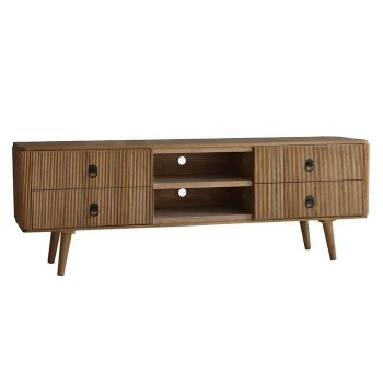 Mueble tv lessime 4 cajones madera de pawlonia
