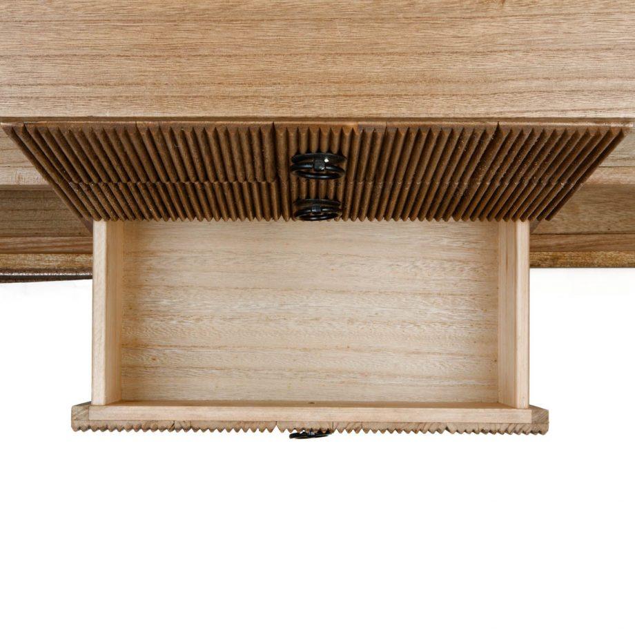 Mueble tv lessime 4 cajones madera de pawlonia detalle cajones