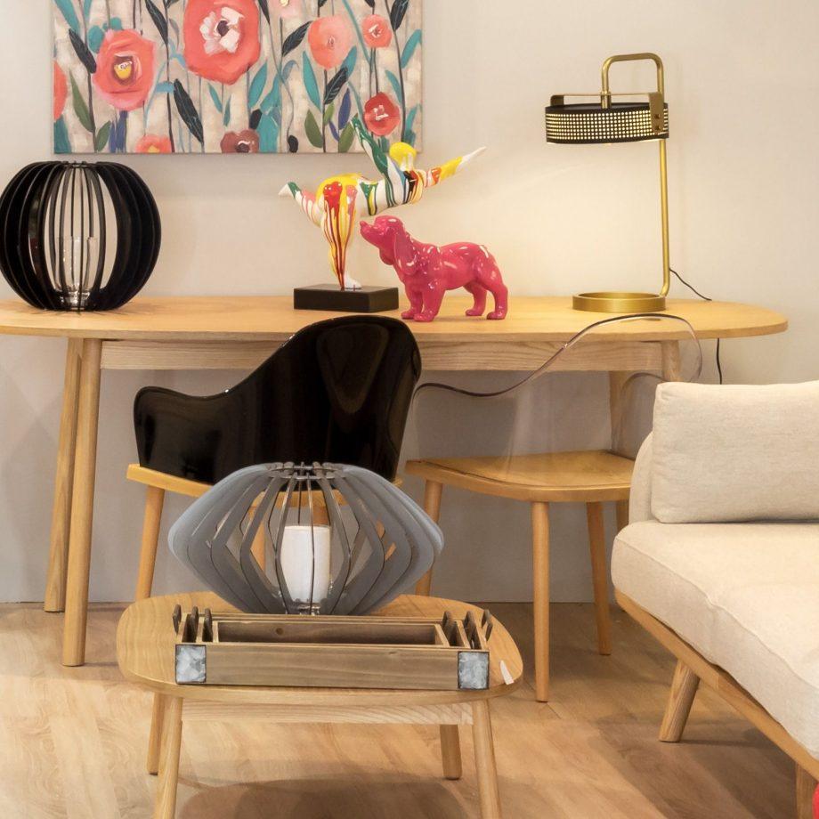 Silla Beksand madera y policarbonato transparente parüm decoración 2